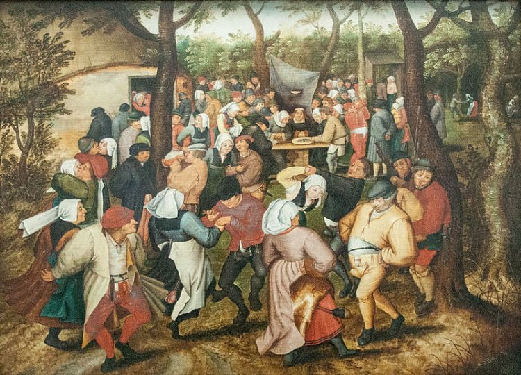 """Wedding Dance in the Open Air"" by Pieter Brueghel the Younger, Royal Museum of Fine Arts, Belgium"