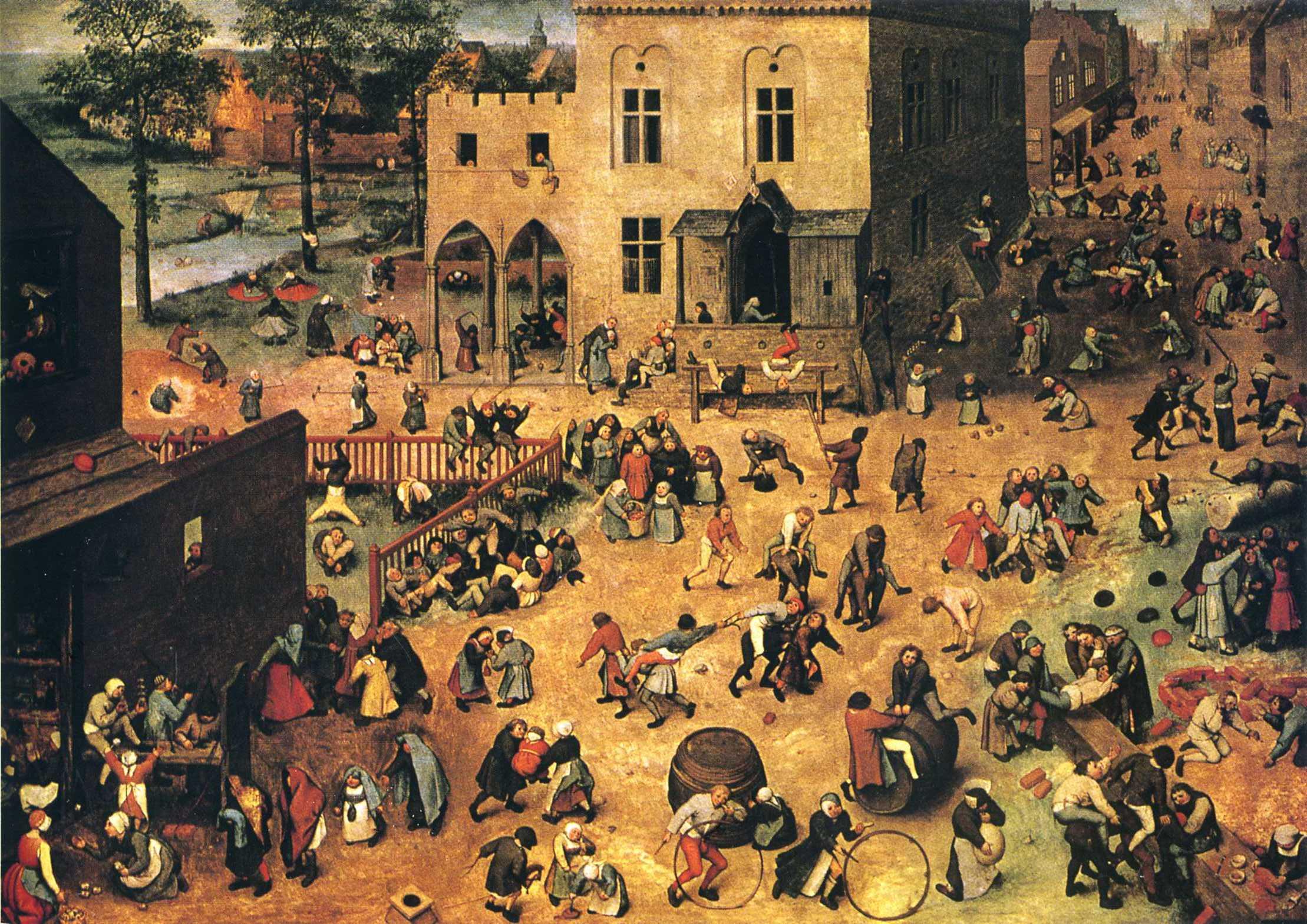 Bruegel's Children's Games (stava come immagine a commentare l'articolo di Ravasi, l'ho preso da un'altro sito, ingrandimento) dans IMMAGINI BELLE children-s-games-1560